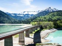 Озеро Sylvenstein Стоковые Изображения RF