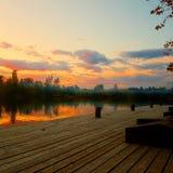 Озеро Szombathely гребля Стоковое фото RF