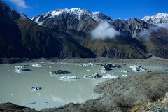 Озеро Tasman Aoraki Mt Национальный парк кашевара Стоковые Изображения