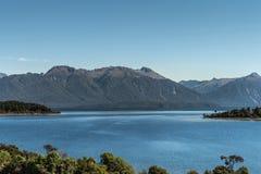 Озеро Te Anau, Новая Зеландия Стоковые Изображения RF