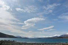 Озеро Tekapo, южный остров, Новая Зеландия Стоковая Фотография RF
