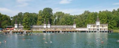 Озеро Termal в Heviz в Венгрии Стоковое фото RF