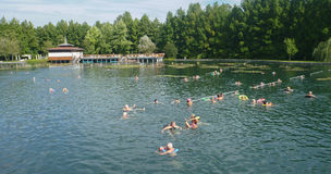 Озеро Termal в Heviz в Венгрии Стоковые Изображения