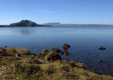 Озеро Thingvallavatn в золотой зоне круга в Исландии Стоковое Изображение