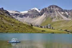 Озеро Tignes в Франции Стоковое Фото