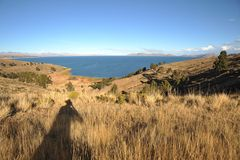 Озеро Titicaca гор Стоковые Фотографии RF