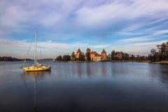 Озеро Trakai, Литвы стоковое фото rf