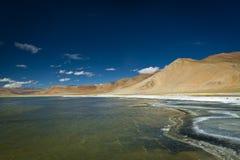 Озеро Tso Kar Стоковые Изображения RF