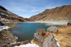 Озеро Tsomgo стоковое фото rf