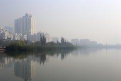 Озеро tundang тумана Стоковая Фотография RF