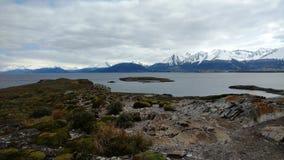 Озеро Ushuaia стоковая фотография