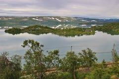 Озеро Ustevatn в Норвегии, Европе Стоковое Изображение RF
