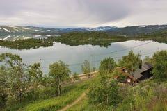Озеро Ustevatn в Норвегии, Европе Стоковые Изображения