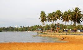 озеро veli Кералы Стоковое Фото