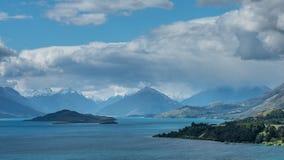 Озеро Wakatipu, Новая Зеландия. Стоковое фото RF