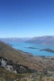 Озеро Wakatipu, Новая Зеландия Стоковое Изображение RF