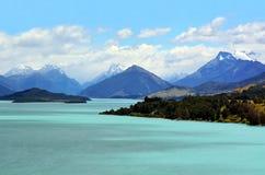 Озеро Wakatipu Новая Зеландия NZ NZL стоковое изображение rf