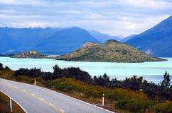 Озеро Wakatipu Новая Зеландия NZ NZL стоковые изображения