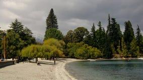 Озеро Wakatipu queenstown Стоковые Фотографии RF