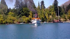 Озеро Wakatipu Queenstown Earnslaw Стоковое фото RF
