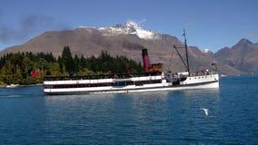 Озеро Wakatipu Queenstown Earnslaw Стоковые Изображения RF