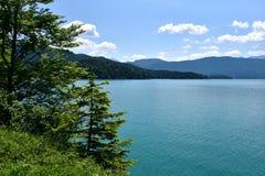 озеро walchen стоковое фото rf