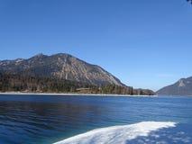 Озеро Walchensee в зиме Стоковые Изображения RF