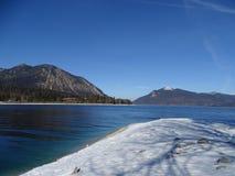 Озеро Walchensee в зиме Стоковое Изображение