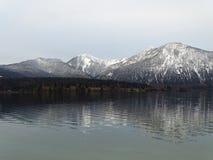 Озеро Walchensee в осени Стоковое Изображение