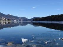 Озеро Walhensee в зиме Стоковая Фотография RF