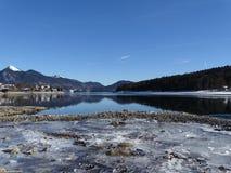 Озеро Walhensee в зиме Стоковое Изображение RF
