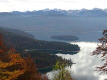Озеро Walhensee в осени Стоковое Изображение