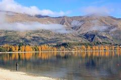 Озеро Wanaka, южный остров Новая Зеландия Стоковая Фотография
