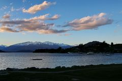 Озеро Wanaka Стоковое Изображение