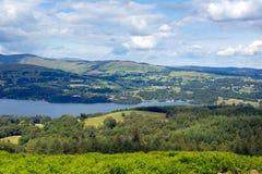 Озеро Windermere озера Cumbria Англия Великобритания Стоковое Изображение RF