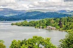 Озеро Windermere с эллингами Стоковое Изображение RF