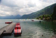 Озеро Wolfgangsee в Австрии Стоковое Изображение RF