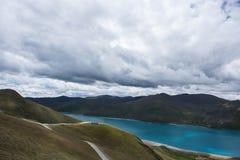 Озеро Yamdrok Стоковое Изображение RF