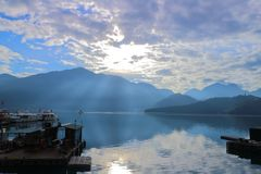 Озеро Yuchi Nantou County Тайвань лун Солнца стоковое изображение