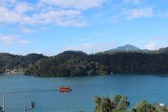 Озеро Yuchi Nantou County Тайвань лун Солнца стоковое изображение rf