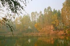 Озеро Zhengzhou Donglin Стоковая Фотография RF