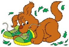 Озорной щенок Стоковое Изображение
