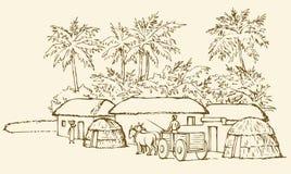 доисторический выселок предпосылка рисуя флористический вектор травы иллюстрация штока