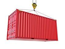 Оказание услуг доставки - красный грузовой контейнер иллюстрация штока