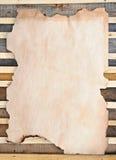 Окаимленная, котор сгорели бумага Стоковое Изображение