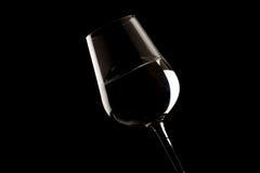 окаймляет вино выделенное стеклом Стоковые Фото