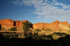 Окаменелые дюны на заходе солнца стоковое изображение rf
