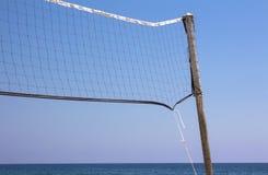 океана сети фронта поля глубины предпосылки волейбол расплывчатого отмелый Стоковая Фотография