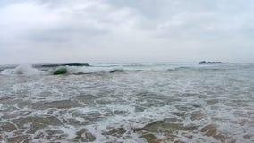 Океанские волны Shi Lanka видеоматериал
