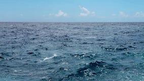 Океанские волны близко подпирают видеоматериал